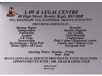 Law and legal centre and Solicitors