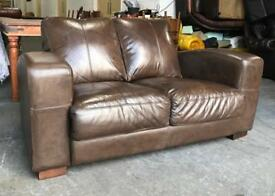 Brown halo deco hide leather Chesterfield sofa Can deliver
