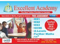 Maths, English & Science Tuition KS1 KS2, KS3, GCSE and A-Level. Edexcel and AQA Exam Centre.