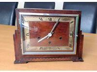 Beautiful Antique 1920s German Art Deco Westminster Clock including Key and Pendulum