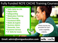 FULLY FUNDED NCFE CACHE TRAINING QUALIFICATION COURSES