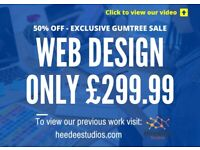 50% OFF SALE! - £299.99 Experienced Website Design (Incl Unltd. Pages, Logo Design + Business Email)
