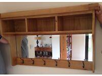 Brand new solid oak hallway storage