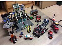 LEGO Bundle Superheroes Police Station Ninjago Vehicles Minifigures Incomplete Mixed Sets