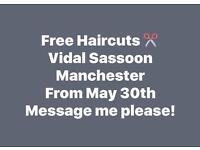 Haircuts at Vidal Sassoon Manchester ✂️