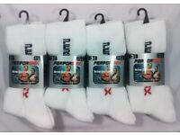 afb4c4571882 144 Pairs Mens White Trainer Socks Cotton Blend Size 6-11 3 Pair Pack  Wholesale