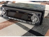 JVC car CD player with carry case