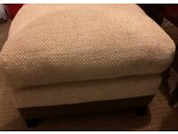 2 Fabric Footstools with Storage