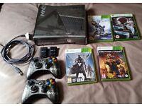 Xbox 360 Slim Modern Warfare 3 Edition, 2 x Wireless Controllers