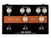 Carl Martin Greg Howe's Lick Box Clean Boost Overdrive and Distortion