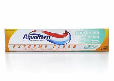 Aquafresh Extreme Clean Pure Breath Action Fluoride Toothpaste,Fresh Mint -