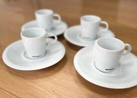 Nespresso Espresso Cups & Saucers x 4
