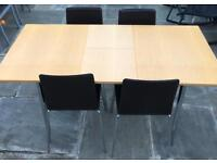 Lovely Extending Contemporary Dining Table and Chairs