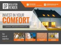 Rendering services-coloured render coating