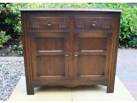Small Vintage Solid Oak Sideboard/Cabinet