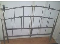 Silver metal double bed frame for sale