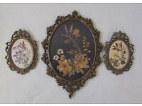 3 Vintage picture frames wall hanging art decor collectable FREE DELIVERY WITHIN LE3
