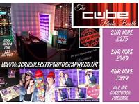 The Cube Photo Booth (Hire from £275 inc Guestbook)