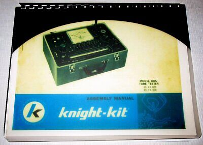 Manual Data Charts Knight 600 Kg-600a Testers 83yx6356 Works With 83yx1423