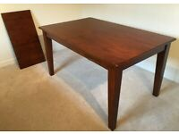 Solid Medium Wood Extending Table FREE DELIVERY 168