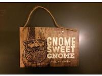 Garden plaque for Gnome lovers!