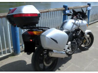 CBF600 quick release panniers and Q/R top box. full luggage set. Givi style, Honda branded