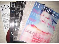Harrods Magazine 2013 2014 August September October November December Issues