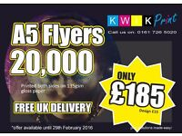 Flyer Printing - Free UK Delivery