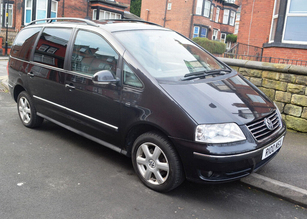 vw sharan carat diesel black 54 plate in adel west yorkshire gumtree. Black Bedroom Furniture Sets. Home Design Ideas