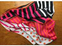 LADIES PATTERNED SATIN SCARF