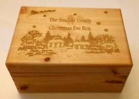 Personalised Engraved Christmas Eve Box a variety to choose from local business