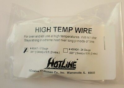 Temp Glass - High Temp Wire for Glass Fusing and Kiln 17 (17g) Gauge Hi Fire Temperature