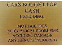 WANTED CARS FOR CASH