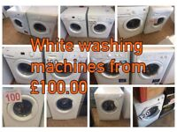 WASHING MACHINE WITH WARRANTY FROM £100