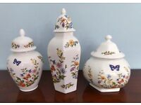 Ansley Cottage Garden China -Three Jars with Lids / Ginger Jars