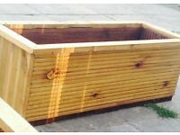 planter boxes all made from pressure treated timber