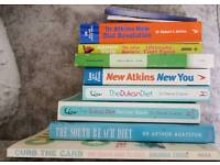 Selection of diet and healthy eating books
