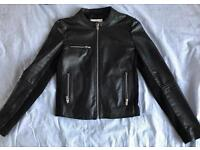 Real leather jacket black XS/S