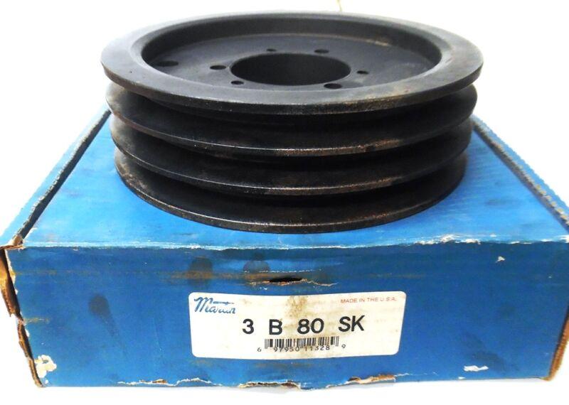 """MARTIN, SHEAVE, 3B80SK, MAX RPM 3104, 2-3/4"""" BORE"""