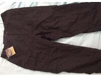 "Brand new Craghoppers original foot black trousers 34""reg"