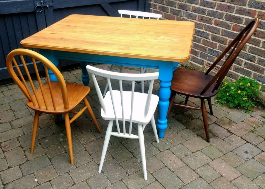 Pine Farmhouse painted Dining Table / Delivery Available