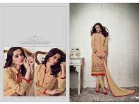 latest semi stitched indian pakistani dress unstitched salwar kameez duppata suit