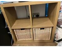 IKEA KALLAX 4 shelves storage + 2 baskets