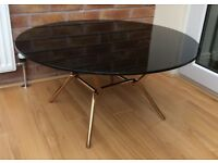 M&S Circular Black Glass Coffee Table, New & Boxed