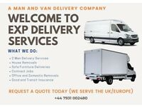 Cheapest Short-Notice Man and Van Hire from £18ph & Single Item to Full House Move