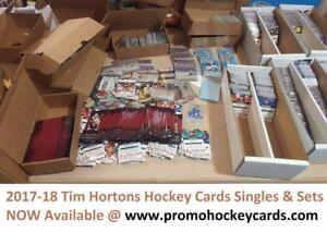 All 2017-18 Upper Deck Tim Hortons Hockey Card Singles Available Base TE CCP GDA PP SM TOP Also 15-16 16-17 FF CC