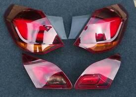 Mk6 Vauxhall Astra j sri rear tail lights