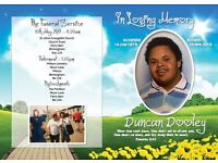 Order of Service Cards Memorial Cards Funeral Thank You Cards. Competetive prices at Printflex!