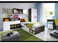 Kids furniture bed wardrobe drawers