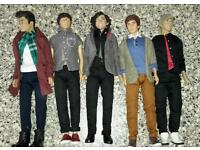 All 5 one direction dolls